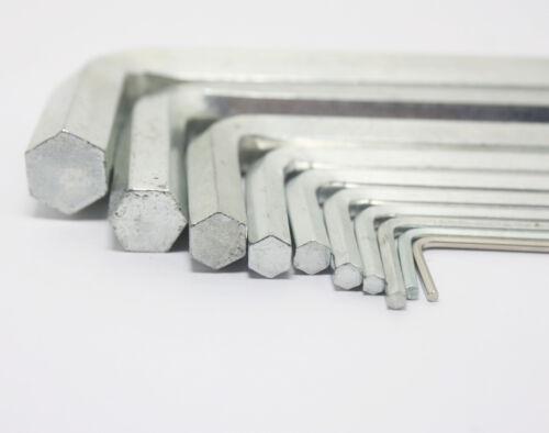 0.9mm-8mm Diameter  Metric Short Arm Allen Hex Key Wrench Steel Hexagon Key