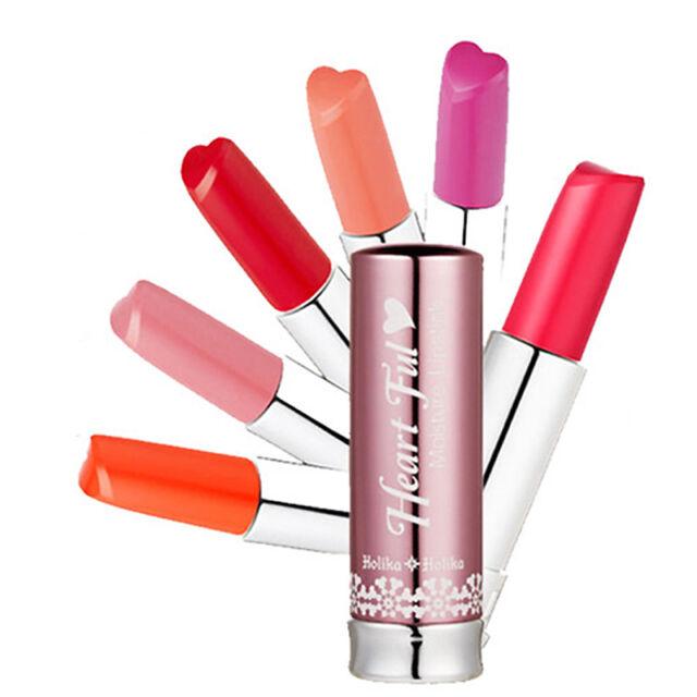 [HOLIKA HOLIKA]  Heartful Moisture Lipstick 6 color / Heart-shaped /