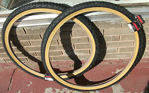 26x2-125-Studded-Knobby-old-school-BMX-tires-fits-Schwinn-King-Sting-Sidewinder