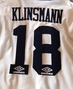 0e9aa278c Original Tottenham Hotspur Home 1993-95 Shirt Print. Klinsmann  18 ...