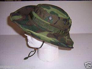 Nouveau-Authentique-Guerre-du-Vietnam-Camouflage-CACHOU-Tropical-Hat-Cap-1969-Date-Made-USA