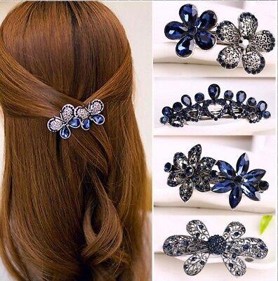 best Damen Schmuck Kristall Rhinestone Blume Hair Barrette Clip Haarschmuck