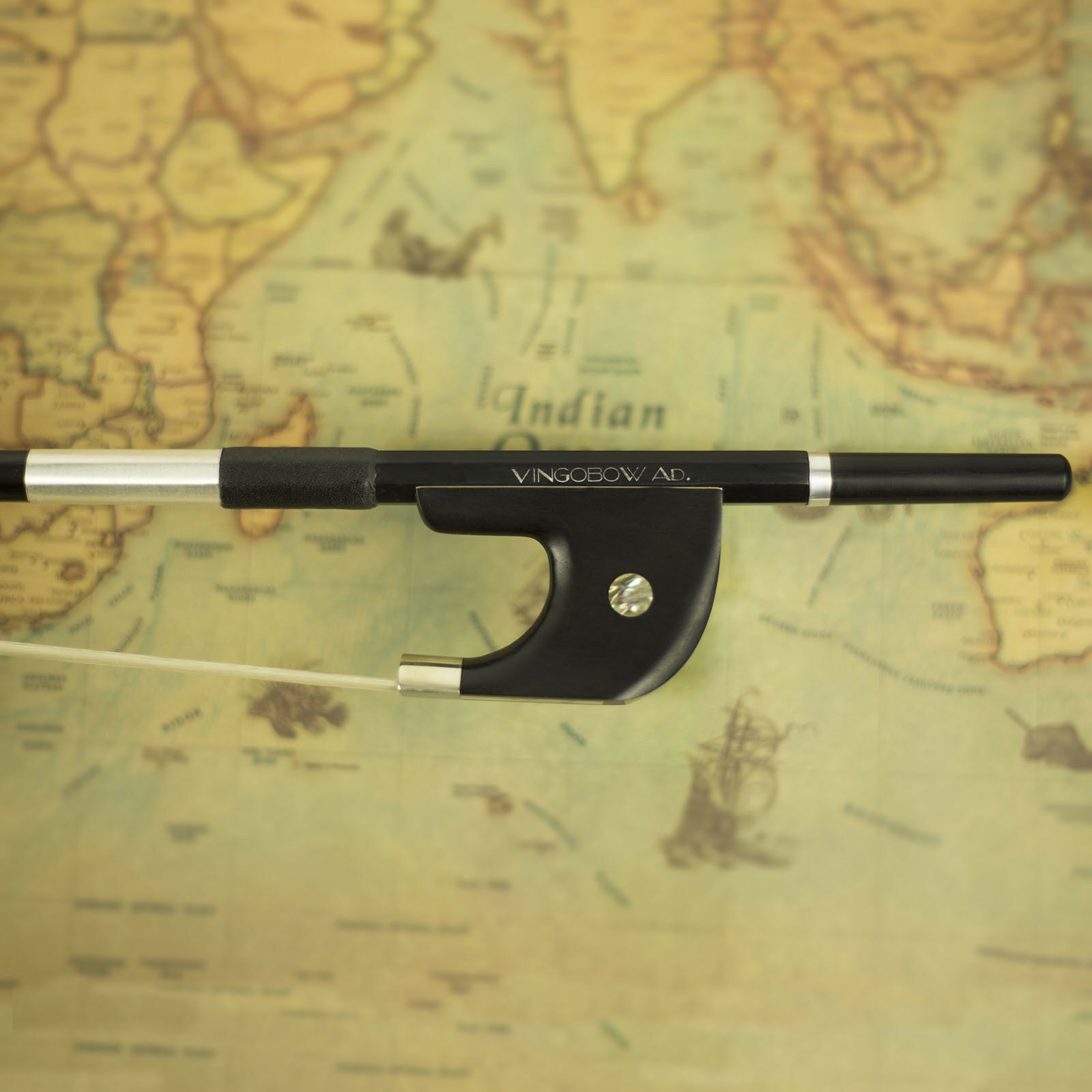 HURRY UP  -  40% OFF  Natural White Horsehair Carbon Fiber Bass Bow 1 2 Size