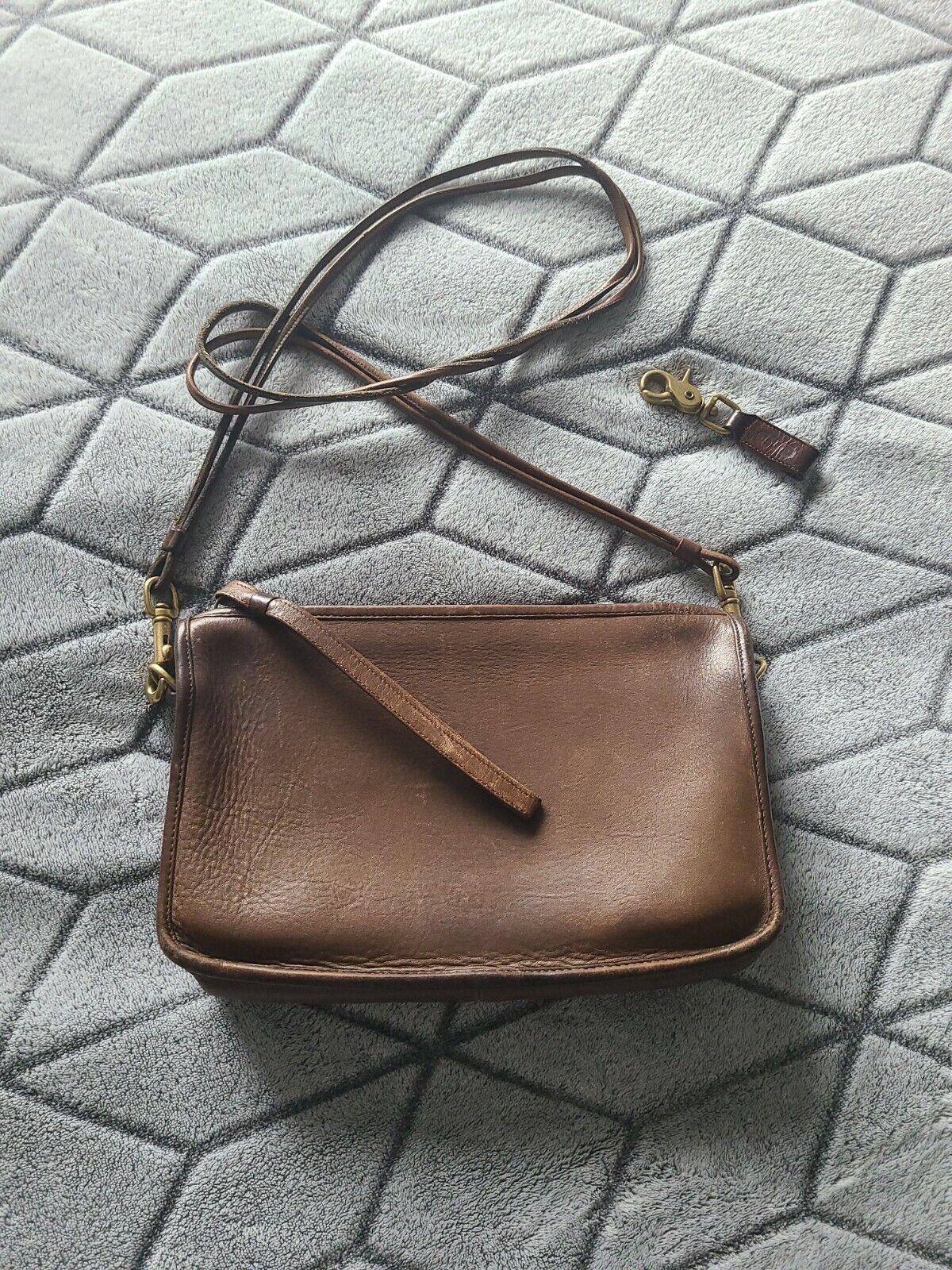 Vintage 70's Coach Basic purse, clutch, USA, Cros… - image 1