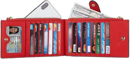 Travelambo Womens Walllet RFID Blocking Bifold Multi Card Case Wallet with Zippe