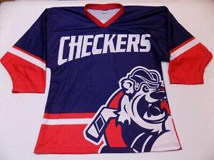 NWOT-Vintage-Charlotte-Checkers-OT-Sports-Replica-ECHL-Hockey-Jersey-L-3X-Number