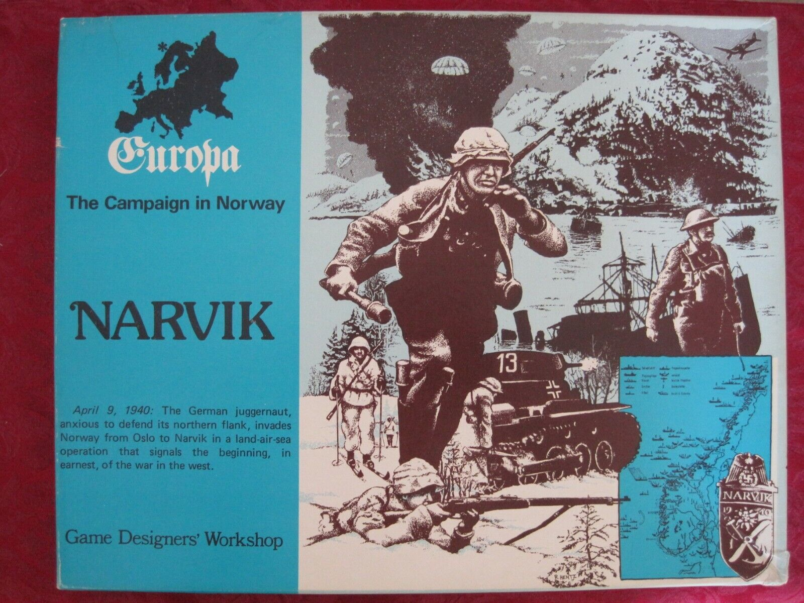 Narvik. The Campaign in Norway. Excellent Unpunched & Complete + Add. Features.
