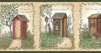 Blonder Home Accents Linda Spivey Outhouses themed bathroom Collection by Chesapeake - LL50321B Home Furnishings