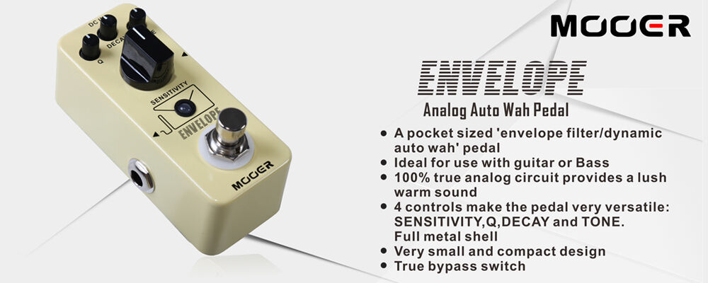MOOER Envelope Auto Wah filter with dynamic auto wah pedal