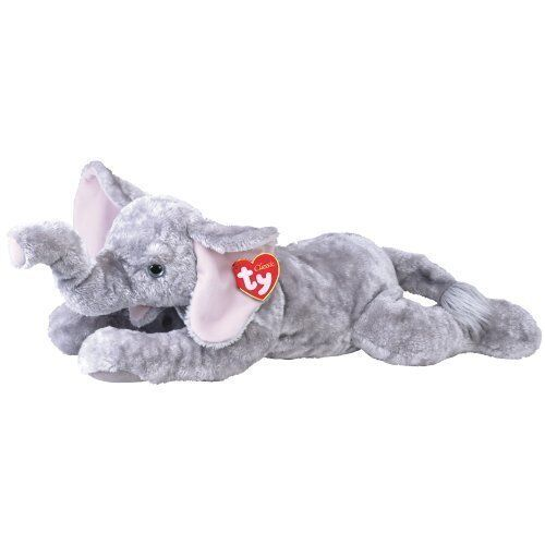 TY CLASSIC   PLUSH  WEENSY  THE GREY ELEPHANT EXTRA LARGE 36  - VERY RARE