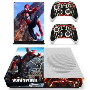f5427b7d05175f Xbox one S Slim Console Skin Iron Spider Man Avengers Marvel Vinyl ...