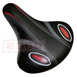 New Wide Bum Bike Bicycle Gel Cushion Extra Comfort Sporty Soft Pad Saddle Seat