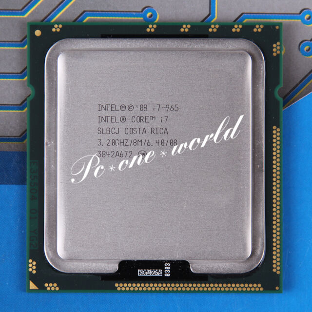 Tech arp intel core i7-965 extreme edition quad core processor.