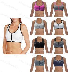 9767e5a7211c8 Ladies Sports Bra Women s Athleisure Zip Front Racerback Dance ...
