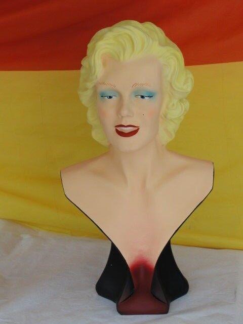 Angebot Marilyn Monroe Büste Film Musik Deko Figur Kunstharz Skulptur Werbefigur