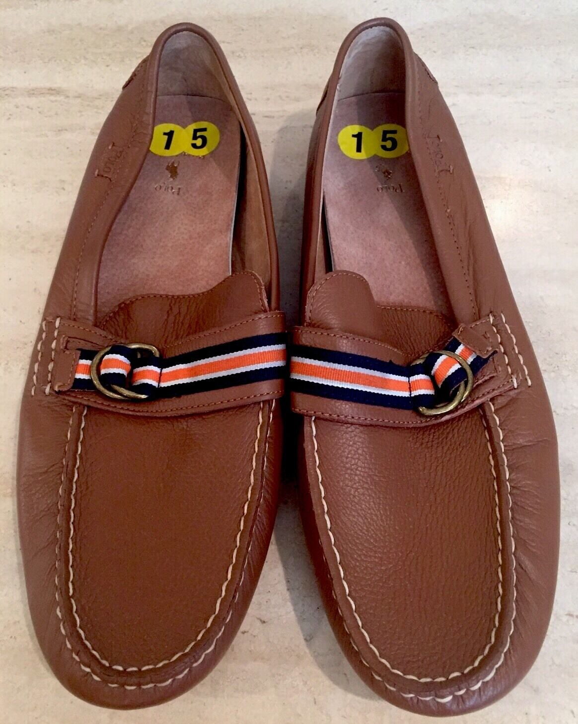 Scarpe casual da uomo  NEW Polo Ralph Lauren uomos Brown Slip On Loafer Sz 15 D