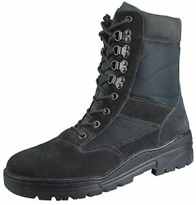 Black-Army-Patrol-Combat-Boots-Tactical-Cadet-Security-Military-Suede-911