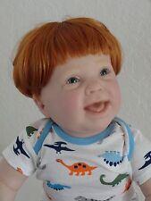"Reborn 25"" toddler boy doll ""Kenzie"" w. full vinyl limbs, head + upper torso"