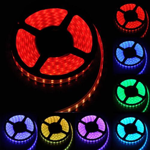 NEW 5M 12V SMD RGB 5050 IP67 Waterproof 600 LED Double Row Tube Strip Light #600