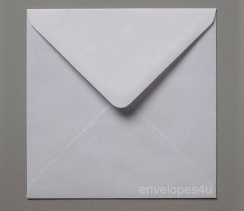 "50 Blanc 155 x 155 mm SQ Enveloppes 100gsm 6 X 6/"" Cartes Mariage invite libre p/&p"
