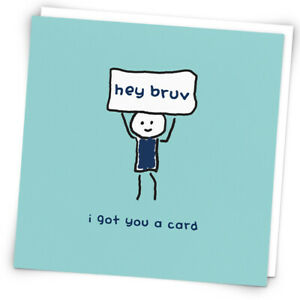 Hey Bruv I Got You A Card, Birthday Card For Brother By Redback