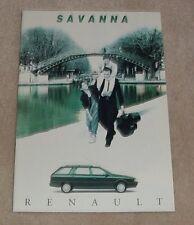 Renault 21 Savanna Brochure 1993 RT 1.7 2.0 1.9D Family