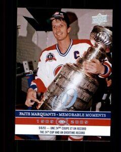 2008-09-Upper-Deck-Montreal-Canadiens-Centennial-298-Guy-Carbonneau-ref-97961