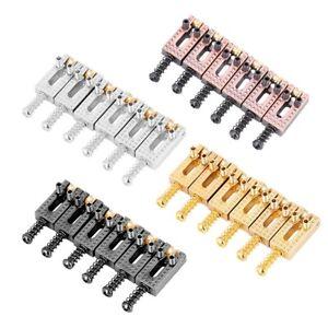 6Pcs-set-Metal-Guitar-String-Saddles-Electric-Guitar-Bass-Tremolo-Bridge-Parts