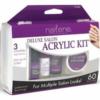 Nailene Salon Acrylic Kit, Deluxe, Includes French & Natural Tips + Brush & More