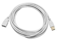 Monoprice 8608 15ft USB 2.0 A Male to A Female Extension 28/24AWG Cable - WHITE