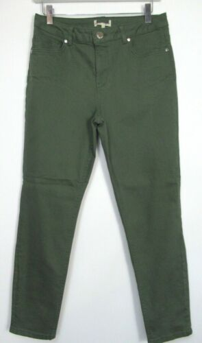 New Phase Eight Khaki Slim Fit Cropped Jeans Size 8-16