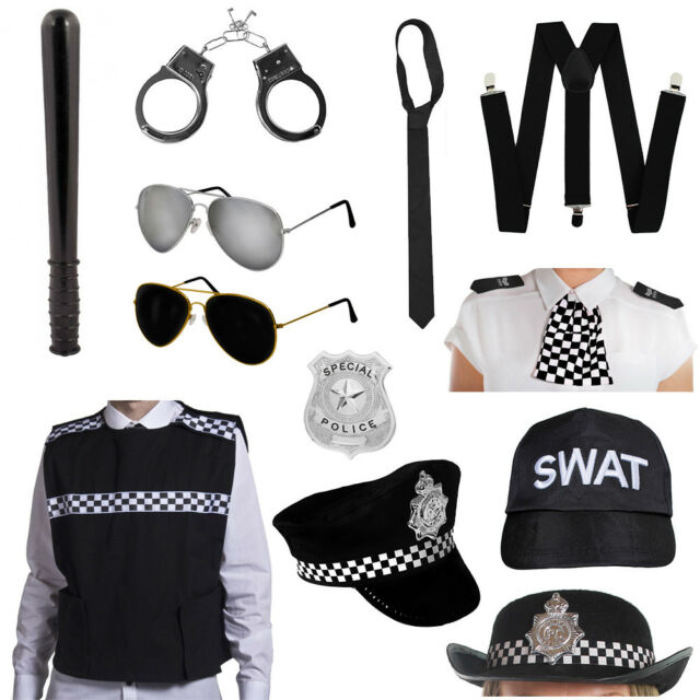 NEW BLACK SQUEAKING TRUNCHEON POLICE FANCY DRESS