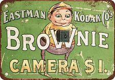 """7"""" x 10"""" Metal Sign - 1904 Kodak Brownie Cameras - Vintage Look Reproduction"""