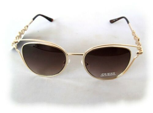 small defect New GUESS GF0343 Rose Gold//Brown Womens Sunglasses $80