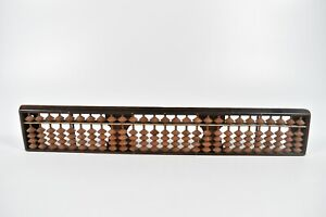 Vintage-Japanese-Wooden-Abacus-Soroban-Rare-27-Column-Digit-Math-Calculator