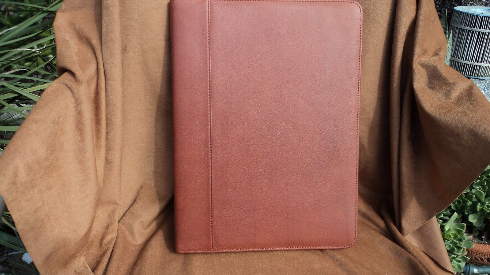 Osgoode Marley 1831 Brandy Cashmere Leather Letter Sized Pad