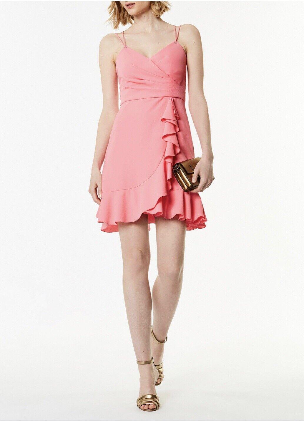 Karen Millen Pink Ruffled Deess Size 16