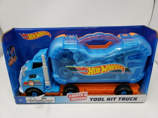 Tool Master Big Rig Truck Toy Free Wheeling Truck with Sound Fix It Truck Tool B