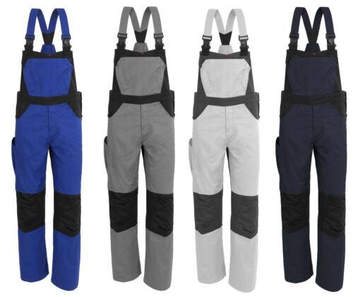 X-Série Messieurs Moleskine Latzhose professionnelle vêtements montage peintre Blanc Gris Bleu