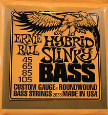Ernie Ball Hybrid Slinky Bass Guitar Strings #2833 Gauges .045-.105, 1 Set