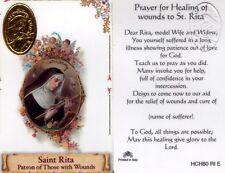 Healing Wounds Saint Rita Suffered Long Sickness Prayer Cards Catholic HCH80RIE