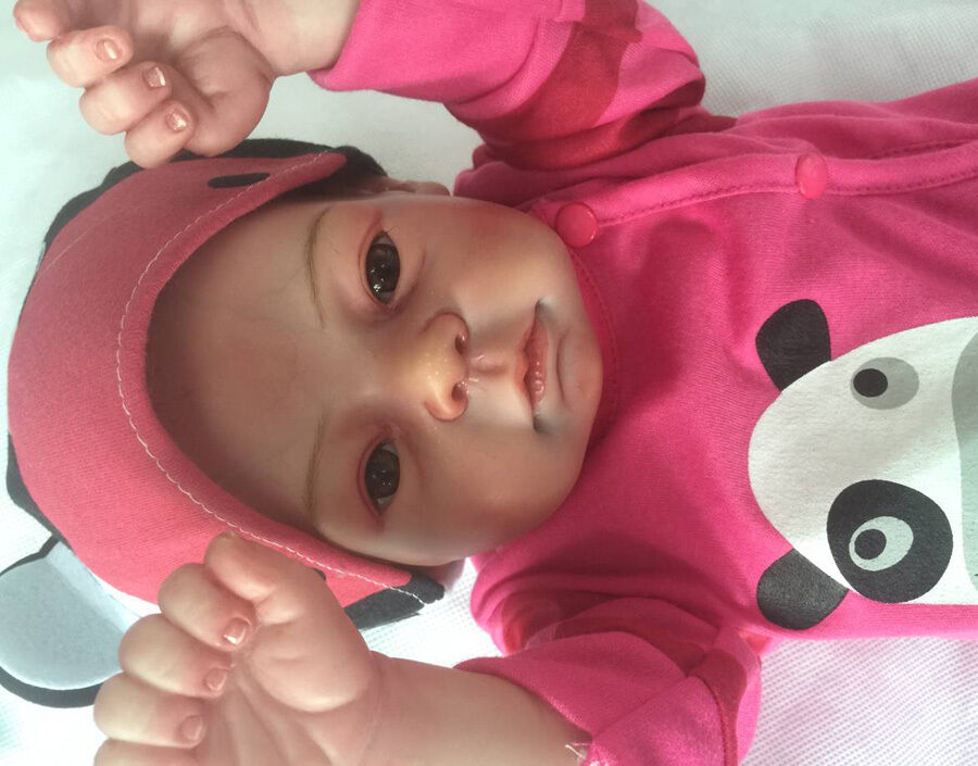 Cuerpo completo de vinilo de Silicona Reborn Bebé Niñas Muñeca 20  likelife recién nacido Juguetes Muñeca