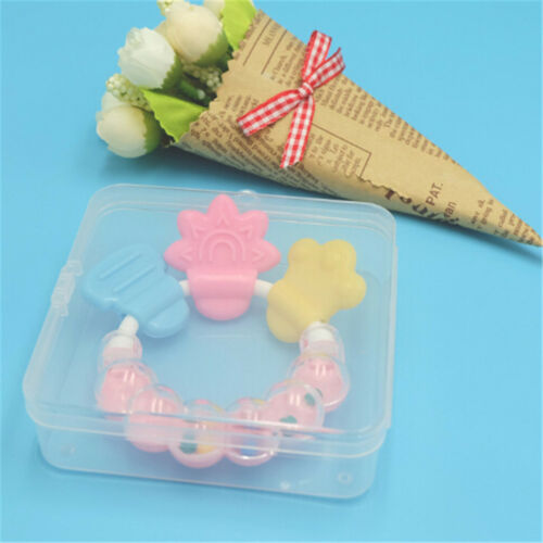 Portable Baby Girls Infant Teether Case Holder Pacifier Chain Storage Box FP
