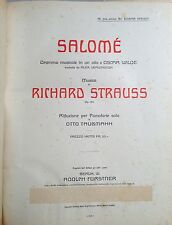 WILDE OSCAR - STRAUSS RICHARD. SALOME'. DRAMMA MUSICALE IN UN ATTO 1906