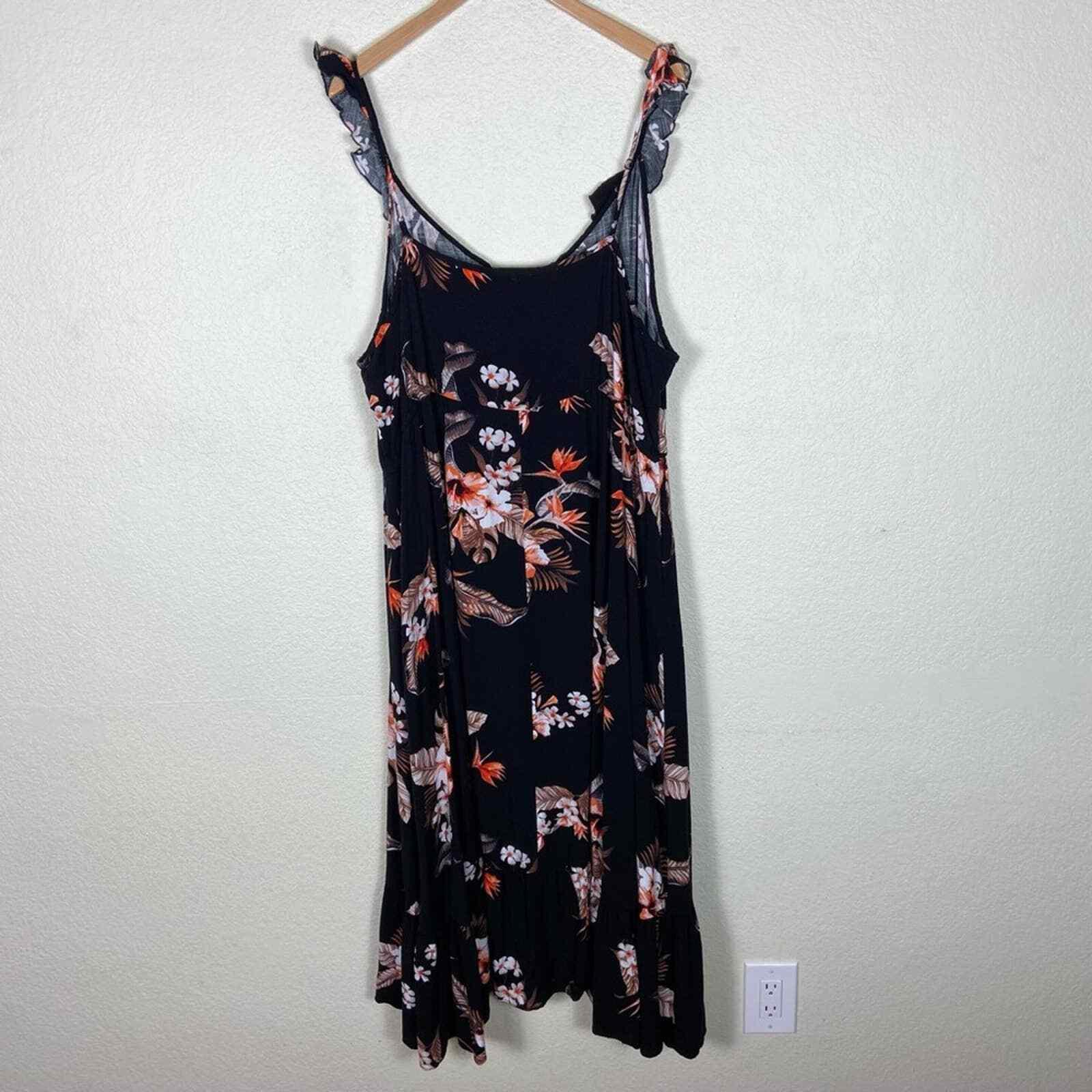 City Chic Seville Black Floral Swing Midi Dress - image 7