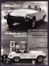 "1977 MG Midget Convertible photo ""A Thrifty Machine to Run"" vintage print ad"