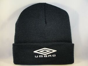 8042457c9c7 Image is loading Umbro-Cuff-Knit-Hat-Navy-Beanie