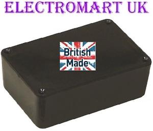 In plastica ABS Nero Scatola Elettronica Progetto Recinzione 74 x 51 x 26mm