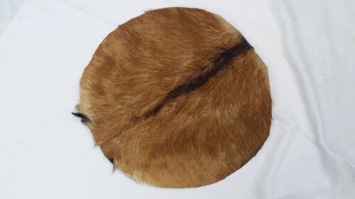 "New Dejmbe Drum Head 18/"" Goat Skin Natural Fur Bonga Head Skin Renaissance Drums"