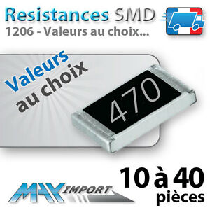 Resistances-SMD-1206-CMS-Lots-multiples-prix-degressif